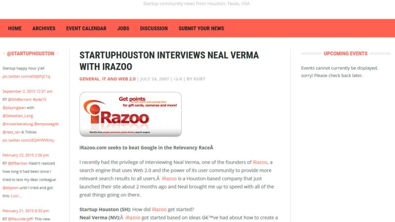 StartupHouston interviews Neal Verma with iRazoo