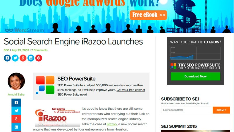 Social Search Engine iRazoo Launches