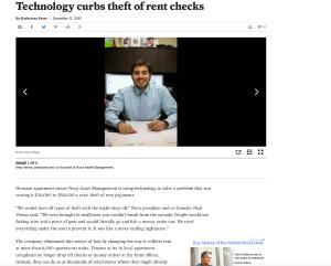 Technology curbs theft of rent checks